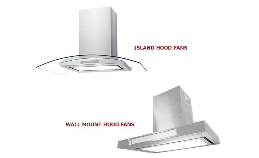 Island and Wall Mount Hood Fans